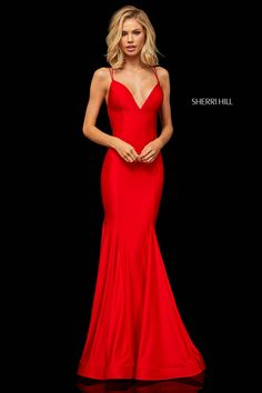 Sherri Hill - 52779 Crisscross Lace Up Fitted Sexy Dress Sherri Hill Red Dress, Sherri Hill Prom Dresses, Cute Prom Dresses, Long Prom Gowns, Plus Size Prom Dresses, Gala Dresses, Pageant Dresses, Homecoming Dresses, Evening Dresses