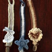 Dummy chains Pacifier Clips, Dummy Clips, Chains, Crocheting, Crochet Necklace, Baby Shower, Knitting, Sewing, Kids