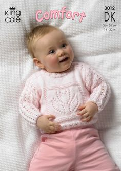 Soft, Cuddly babies knitted weater and blanket - King Cole
