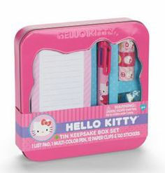 Walmart has a Hello Kitty Stationery Set in a cute tin on clearance for $5. My daughter would love this! Like this post if you have a Hello Kitty fan at your house.