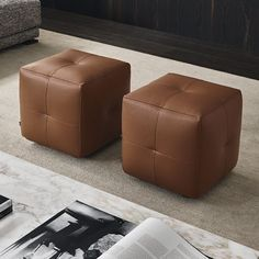 Designed by Poliform for Poliform is available at Switch Modern - your source for original contemporary design. Onda ottoman from R&D Poliform. Leather Ottoman, Pouf Ottoman, Ottoman Bench, Funky Furniture, Luxury Furniture, Poliform Sofa, Rustic Stools, Comfortable Living Rooms, Single Sofa