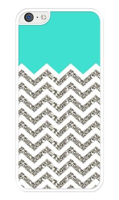 Chevron Pattern( Without Actual Glitter) with Turquoise Rubber iPhone 5C case in Cell Phones & Accessories, Cell Phone Accessories, Cases, Covers & Skins | eBay