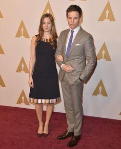 Pin for Later: Lady Gaga, Leonardo DiCaprio & Co. geben einen Vorgeschmack auf die Oscars Eddie Redmayne und Hannah Bagshawe