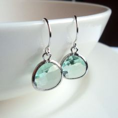 LOVE - Prasiolite green amethyst glass and silver by blackandwhitejewels, $20.00
