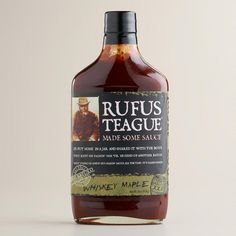 One of my favorite discoveries at WorldMarket.com: Rufus Teague Whiskey Maple BBQ Sauce, Set of 2