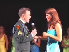 Soldier Surprises Girlfriend During Beauty Pageant, Then Proposes