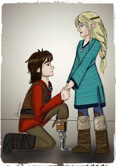 Hiccup proposed to Astrid in a marriage proposal