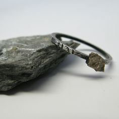 Meteorite Ring - I would love this if the band were simpler!