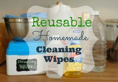 Stop purchasing those expensive disposable cleaning wipes. Let me show you how to make reusable homemade cleaning wipes from stuff you already have at home.