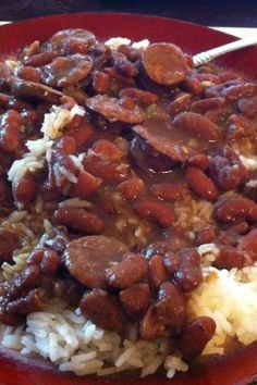 Any time someone asks the question, 'What exactly is soul food?' the answer should always be 'a comforting bowl of red beans and rice.' Just sit them down, give them a spoon, and when they finish, ask them if they understand. Cajun Recipes, Bean Recipes, Greek Recipes, Rice Recipes, Mexican Food Recipes, Italian Recipes, Cooking Recipes, Healthy Recipes, Soul Food Recipes