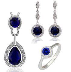 Купить Ожерелье серьги кольца королева кейт комплект ювелирных изделий бренд…