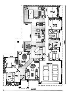 """The mornington """" australian house plans house layout ideas а House Plans One Story, One Story Homes, Dream House Plans, Modern House Plans, House Floor Plans, Australian House Plans, Australian Homes, Architectural Floor Plans, House Construction Plan"""