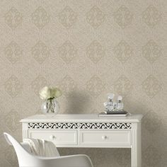 Ribbon Dance Gold Wallpaper by Graham and Brown