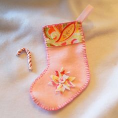 American Girl Doll Christmas Stocking with by TheShopOnLeightonAve, $7.50