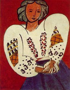 La Blouse Roumaine is an oil-on-canvas painting by Henri Matisse from 92 × 73 cm, Musée National d'Art Moderne in Paris. Henri Matisse, Matisse Kunst, Matisse Art, Matisse Paintings, Paintings Famous, Picasso Paintings, Famous Artists, Expo Paris, Pompidou Paris