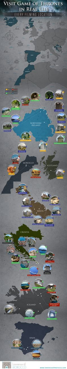 Travel and Trip infographic Game Of Thrones Filming Locations Didn't know they filmed in morocco! Infographic Description Game Of Thrones Filming Game Of Thrones Map, Game Of Thrones Locations, Game Of Thrones Places, Places To Travel, Places To Visit, Hbo Tv Series, Film Games, Bucket List Travel, Travel Tips