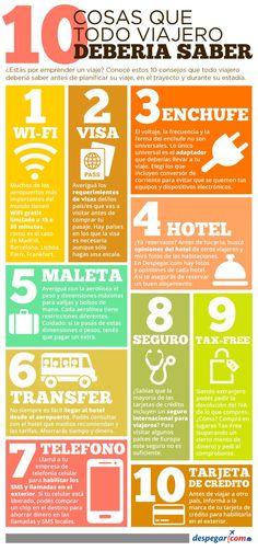 10 cosas que un viajero debe saber antes de viajar #infografia #infographic #tourism | TICs y Formación