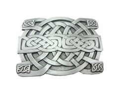 Celtic Weave Pattern Belt Buckle