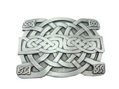 Celtic Weave Pattern Belt Buckle