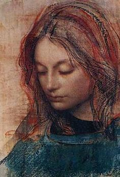 pietro annigoni, blog.libero.it This is a Beautiful Piece of art the Artist has captured the delicate beauty of her face