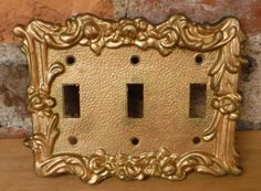 Triple Switch Plate Cover Stunning Lovely Midcentury Vintage Porcelain Light Switch Cover Switch Decorating Design
