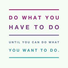 Do what you gotta do, for yourself.