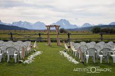 Grand Teton wedding Diamond Cross Ranch - stunning mountain view
