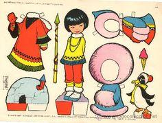 LAMINA RECORTABLE MUÑECA TORAY 134 MARIA PASCUAL 1962 MODA VESTIDOS NIÑA JUGUETE INFANTIL JUEGO