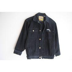 90s Black Denim Jacket, Vintage Jean Jacket, Faded Black Denim, 90s... ($35) ❤ liked on Polyvore featuring outerwear, jackets, vintage denim jacket, oversized denim jacket, grunge jacket, patch pocket jacket and vintage jackets