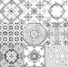 Morrocan Tiles Grey is $99 a roll.