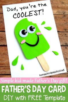 Father's Day is coming up! Let your kids show him how much he's loved. If you're looking for a fun Fathers Day craft your kids can make, I've got exactly what you're looking for right here! ideas father Easy DIY Fathers Day Craft That Your Kids Can Make Kids Fathers Day Crafts, Fathers Day Art, Gifts For Kids, Fathers Day Ideas, Free Fathers Day Cards, Fathers Day Cards Handmade, Handmade Cards, Fathers Day Gifts, Diy Father's Day Gifts