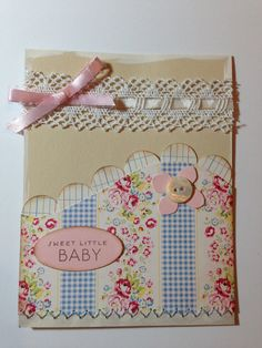Handmade Stampin Up Sweet Baby Girl Card by MarlieCreations, $3.50