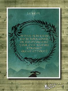 SKYRIM - Minimalist video game poster inspired by The Elder Scrolls on Etsy, $5.10
