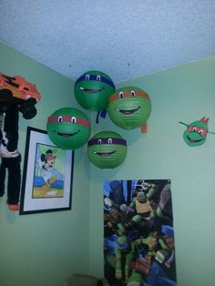 After party reused these as decorations in his room! :)