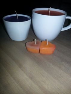 homemade #candles zelfgemaakte #kaarsen theekaars