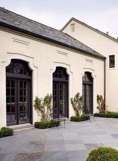 41 Super Ideas For House Facade Classic French Doors Door Design, Exterior Design, Interior And Exterior, House Design, Exterior Doors, Black Exterior, Facade Design, Window Design, Architecture Design