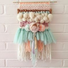 @needleandknot woven wall hanging with gorgeous textures!