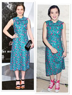 Hailee Steinfeld at The Dark Knight Rises New York premiere in a dress from the Marc Jacobs Resort 2013 collection
