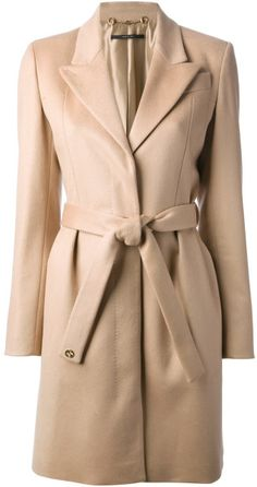 Belted Coat - Lyst