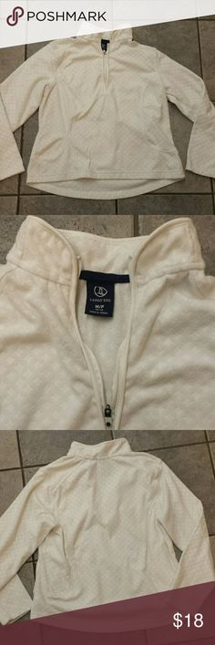 Lands end fleece MP 1/2 zip up Lovely and comfortable white , size MP, Lands end fleece sweatshirt. Only worn once and in excellent condition. Thanks for looking!* Sweaters