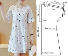 Dress Paterns, Sewing Clothes, Casual Wear, Short Sleeve Dresses, Embroidery, Stitch, Knitting, Instagram, How To Wear