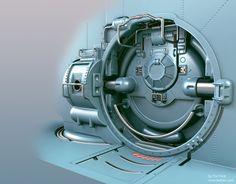 Pressure door, Tor Frick on ArtStation at http://www.artstation.com/artwork/pressure-door