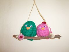 pajaritos crochet Christmas Ornaments, Holiday Decor, Home Decor, Little Birds, Decoration Home, Room Decor, Christmas Jewelry, Christmas Decorations, Home Interior Design