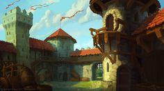 Castle yard by TW221.deviantart.com on @DeviantArt