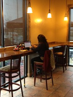 Breakfast bar equip with Plug ins for Laptops and your phones