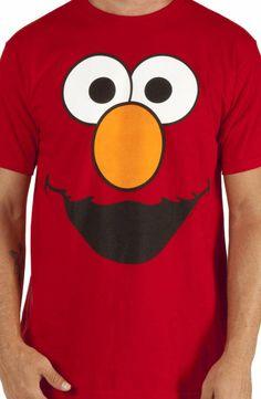 Elmo Big Face T-Shirt: 80s TV Sesame Street, Character Face T-shirt