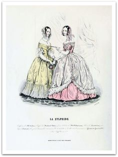 La Sylphide Fashion Plate 1841 - No 43 (by CharmaineZoe's...