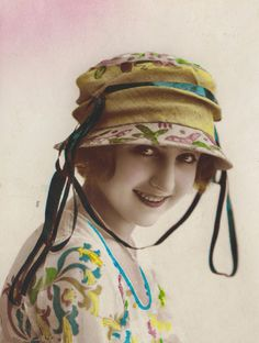 Hand-Tinted French Postcard