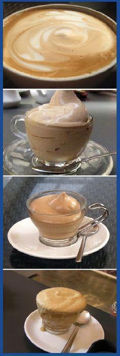 Una taza de café soluble, taza y media de azúcar y taza y media de agua. Y a batir, como si fuera nada montada. Yummy Drinks, Yummy Food, Café Chocolate, Cooking Time, Cooking Recipes, Cake Shop, Frappe, Coffee Cafe, Puddings
