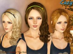 Sims 3 Finds - Under The Sun - Hairstyle Set by Cazy at The Sims Resource